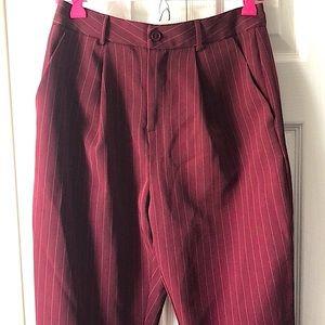 Trendy pinstripe pants